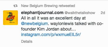 new belgium tweet