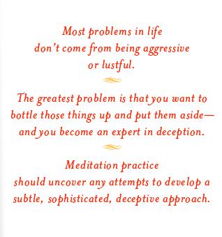 trungpa meditation quote