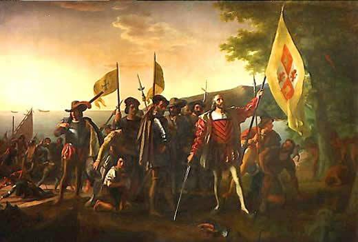 Columbus Landing on Fair Ameirca