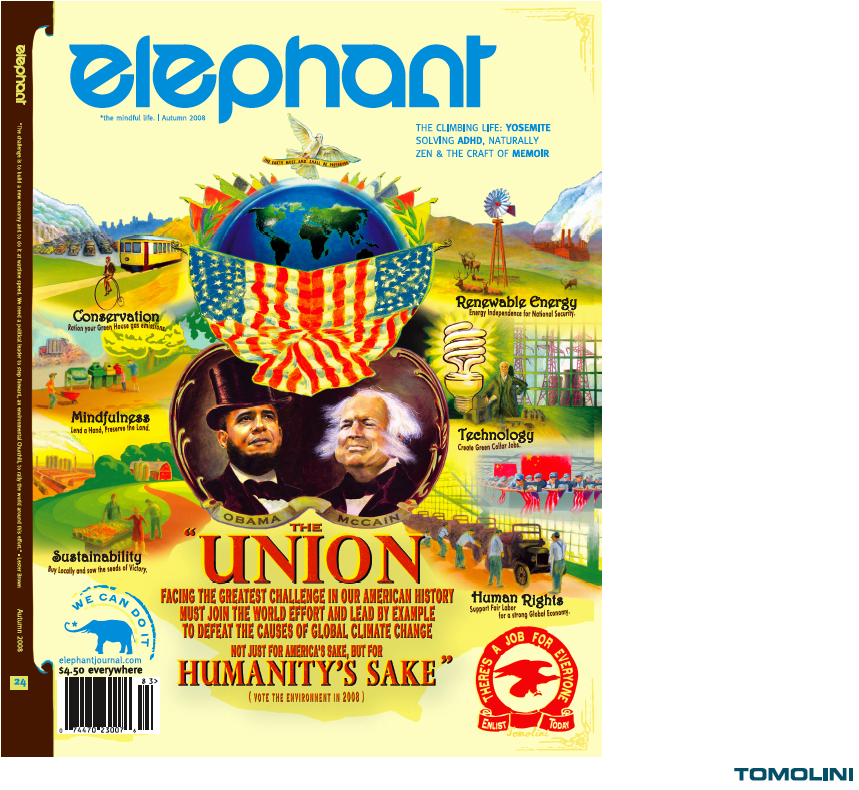 elephant obama mccain climate change global warming