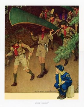 """""""boy scouts"""" """"norman rockwell"""" eco green"""