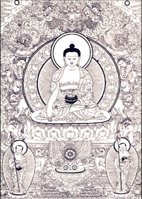 buddha touching earth fasting mudra