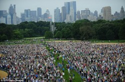 Great Lawn, New York, yoga, Central Park