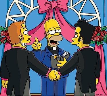 Homer Simpson gay marriage