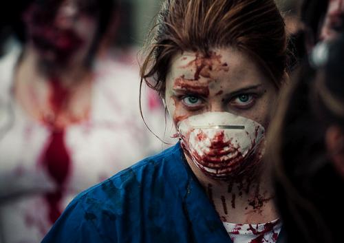 zombies, zombie walk, apocalypse