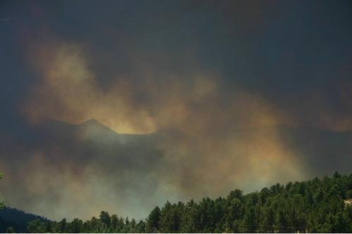 smoke mountain fire