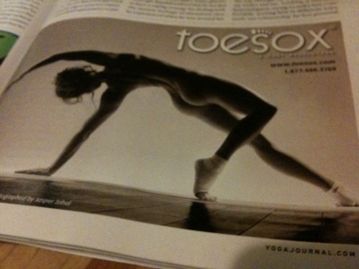 November 2010 Toesox Ad in Yoga Journal