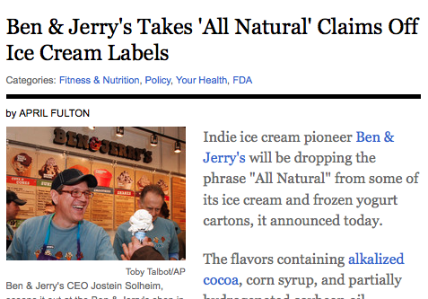 all natural integrity ben jerry's ice cream