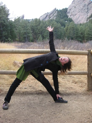 Trikonasana at the Flat Irons