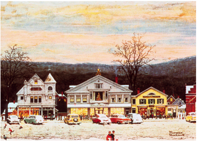 small town christmas norman rockwell