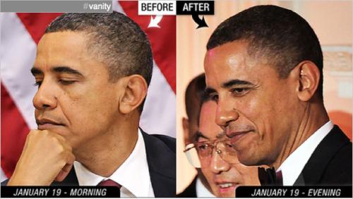obama hair dye black gray
