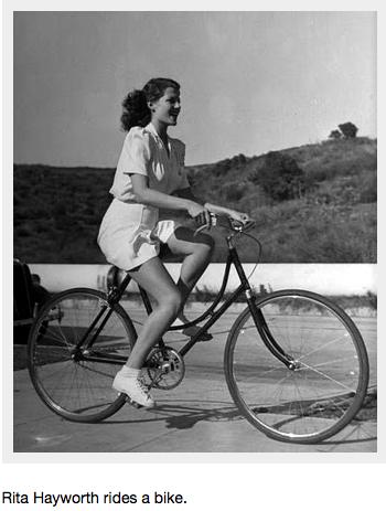 rita hayworth happy bicycle