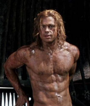 "Brad Pitt in ""Troy"""