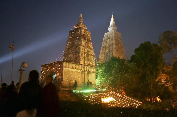 Mahabodhi Temple at Night