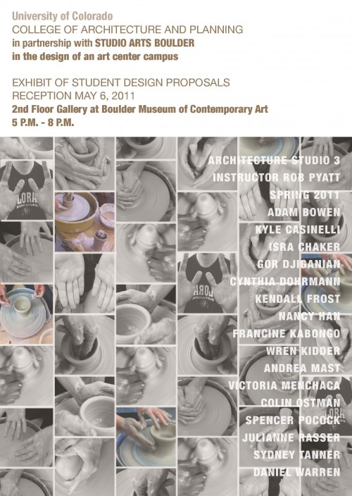 Studio Arts Boulder and CU Environmental Design