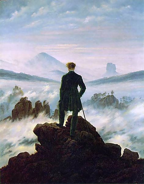 Friedrich lonely loneliness romantic painting