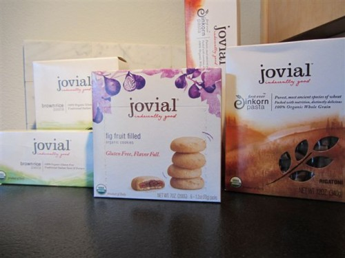 Jovial Product lineup- Gluten Free in Green, Einkorn Wheat in Brown