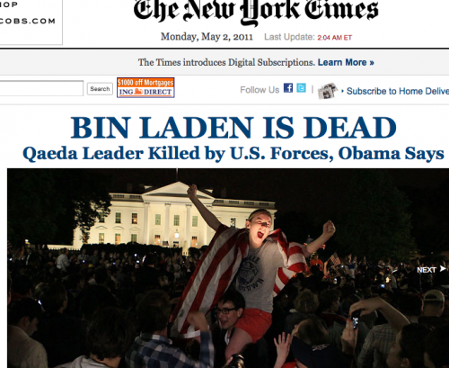 Bin Laden Dead Celebration