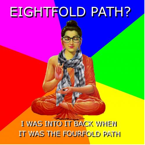 hipster buddhist