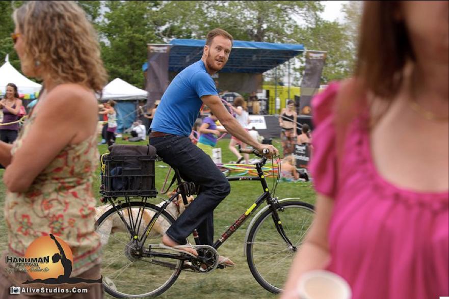"""Waylon lewis"" redford ""hanuman festival"" yoga boulder bicycle dog"