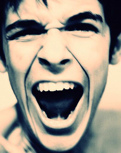 angry yell