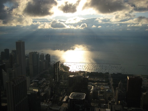 Morning on Skydeck Chicago.