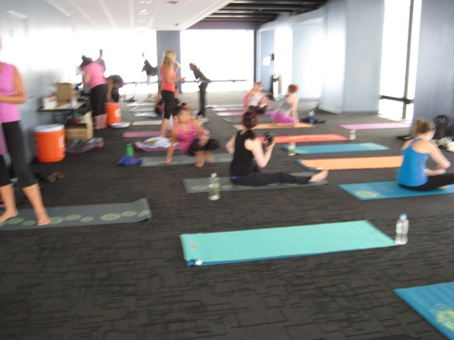 Yoga on the Skydeck