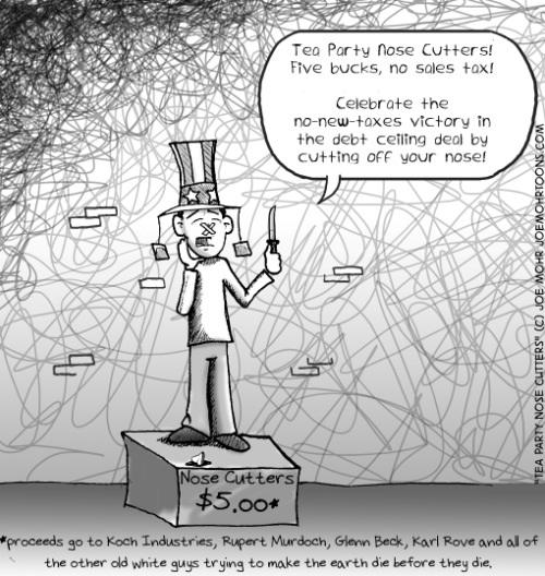 Tea Party Nose Cutters! (cartoon)