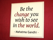 be the change gandhi