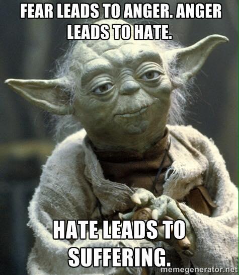 yoda tragedy fear hate