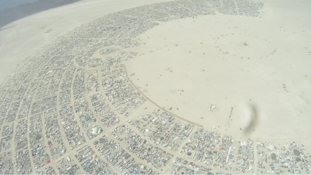 burning man 2011 playa black rock city