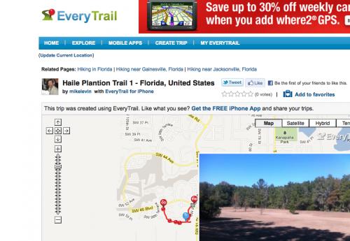 EveryTrail GPS app