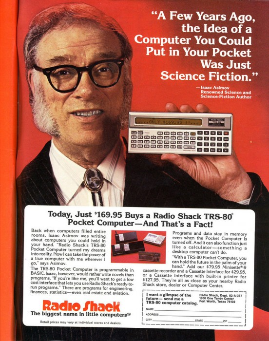 isaac asimov smartphone iphone blackberry funny ad