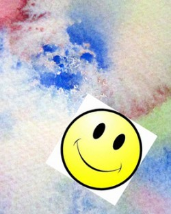 watercolor painting smile face