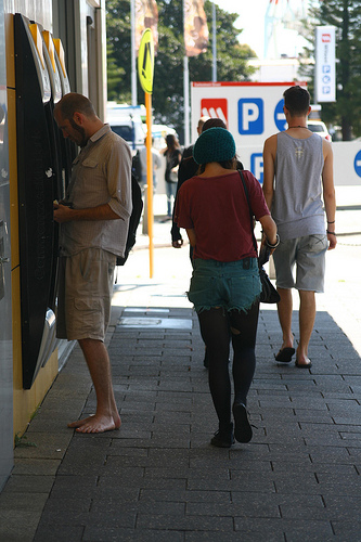 Barefoot at ATM