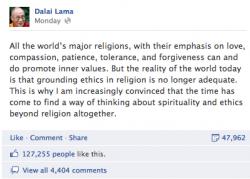 dalai lama facebook