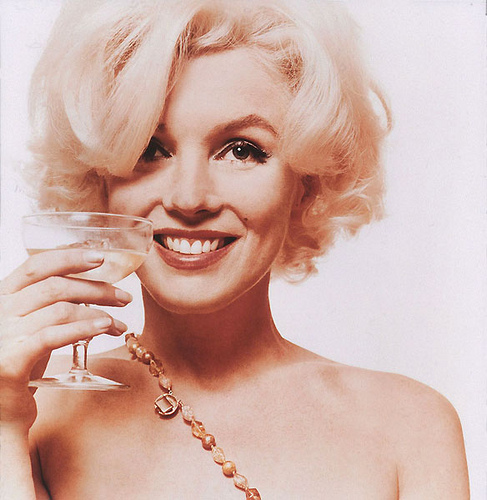 Marilyn Monroe, toast, new year, new year's eve, resolutions, evolve, inspirational, sexy