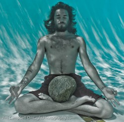 yoga lotus underwater