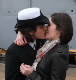 first kiss gay don't ask don't tell military historic lesbian lgbtq