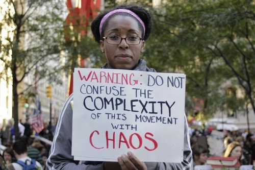 Occupy Sign-Complexity Not Chaos