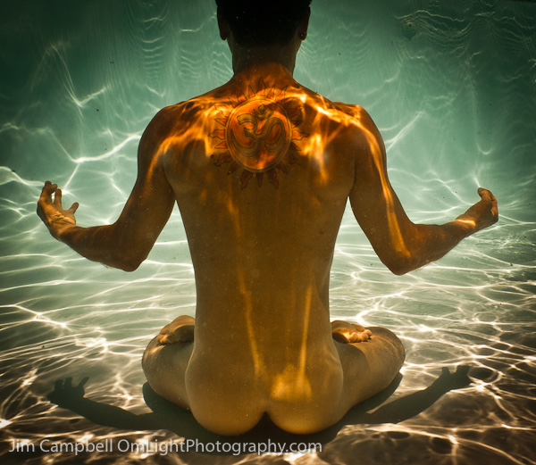 Yoga Lotus Underwater Art Portrait