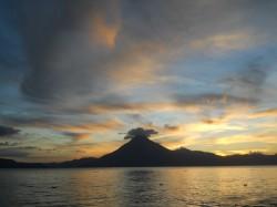 Lake Atitlan Guatemala sunset volcano