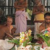 Douglas with the Dikshitar Priests during the Homa, Chidambaram, Dec 2010 - photo Frank Andolino
