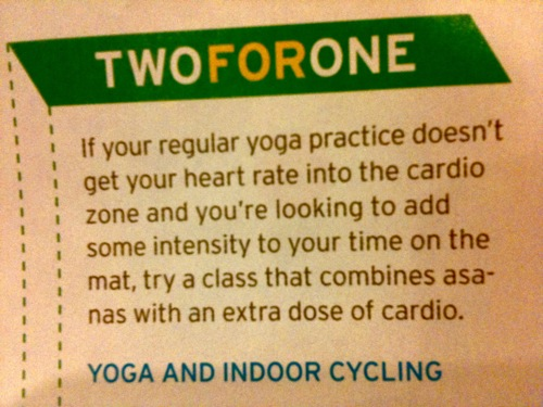 cardio added to yoga in Yoga Journal