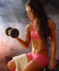 Bodybuilder woman