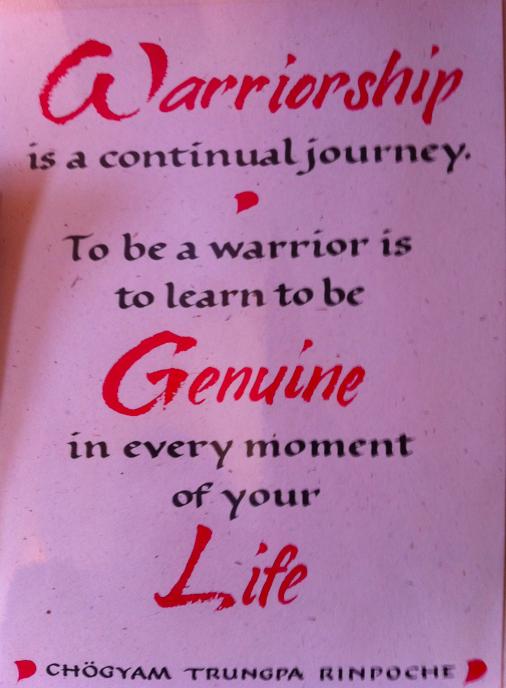 warriorship trungpa meditation quote