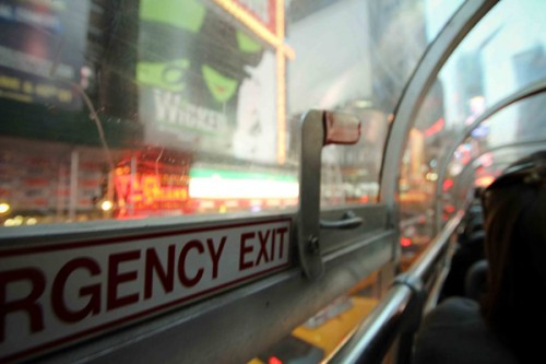 NYC Bus Emergency Exit