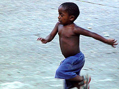 Child Running by DRP
