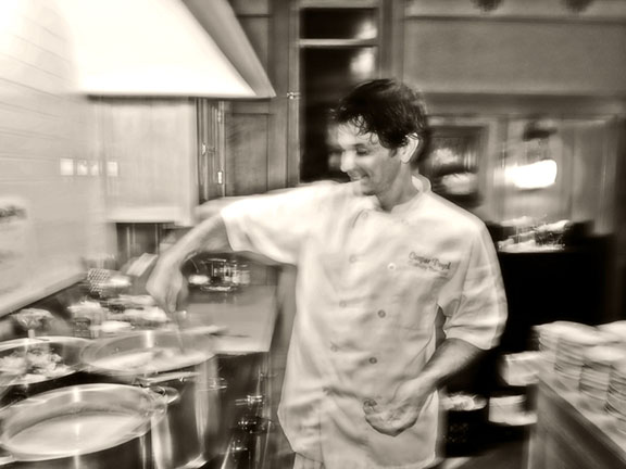 Chef Caspar Poyck prepares everything with a whole lotta love.