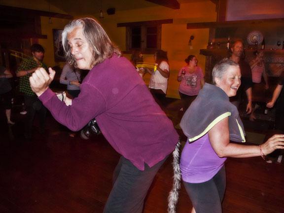Randy Bruck, the Malibu Healer & Marla bumpin it on dance night.